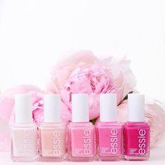 Pretty pink polishes by essie.