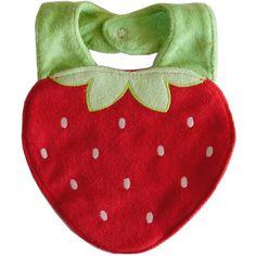 Bavoir original forme fraise bébé