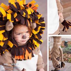 How to make a diy lion halloween costume upsized a million times cute little lion solutioingenieria Choice Image