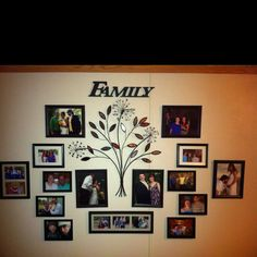 Family tree wall - this way instead??  dining room