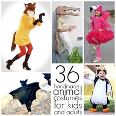 28 homemade animal costumes for kids and 8 DIY animal costumes for adults!