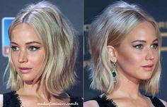 Cabelos long Bob – Jennifer Lawrence inspira o look | Hair Cheveux long bob http://modaefeminices.com.br/2016/12/18/cabelos-long-bob-jennifer-lawrence-inspira-o-look/