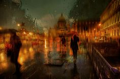 Based in St. Petersburg, Russia, talented photographer Eduard Gordeev takes impressive rainy cityscapes. His captures look as if they were acrylic paintings. The reflections of city lights and all melting colors turn them into extraordinary pieces of art. You can browse our selection from his photo series here and visit his page for more.