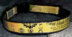 I created a collar using a recycled Maui Brewing Bikini Blonde beer can :)