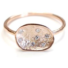 Engagement Ring, Diamond Ring, Diamond and Gold Ring, Diamond Engagement Ring, Diamond Pod, Rose Gold, Organic, Nixin