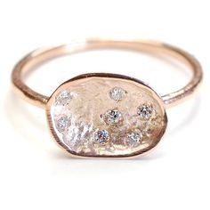 Bague en diamant, diamant et bague en or, bague de fiançailles, bague de fiançailles diamant, Diamond Pod, Or Rose, organique, Nixin