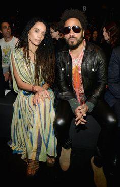 Pin for Later: Ce Défilé de Mode a Presque Réuni Plus de Célébrités Que les Golden Globes Lenny Kravitz et Lisa Bonet