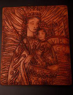 Margit Kovács: Madonna with the Child - Pintér Aukciósház Madonna, Mona Lisa, Museum, Marvel, Sculpture, Children, Artwork, Painting, Artists