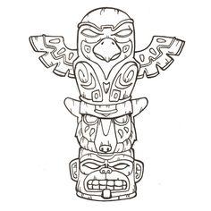 Coloriage Totem