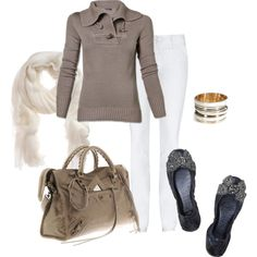 Taupe Casual, created by mzcali4nia on Polyvore