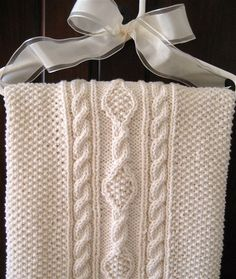Irish Knit Baby Blanket...a perfect gift to make for baby....