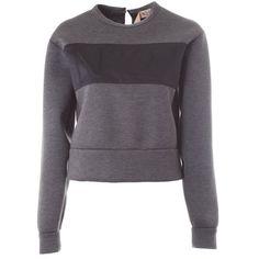 N° 21 N21 modal sweatshirt (6797460 BYR) ❤ liked on Polyvore featuring tops, hoodies, sweatshirts, grey, gray top, grey top, n°21, sweatshirts hoodies and grey sweat shirt