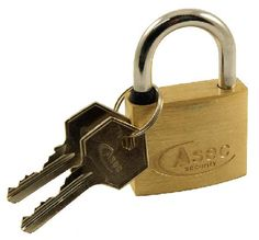 Door Furniture Direct Solid Brass 30mm Padlock Security solid brass padlock with hardened steel shackle and two keys. Approximate overall measurements are