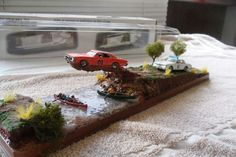 Ertl Dukes of Hazzard Diorama Display General Lee Jump Over River General Lee Car, Cool Works, Dukes Of Hazard, Tilt Shift Photography, Free Paper Models, Model Cars Kits, Displaying Collections, Miniture Things, Model Trains