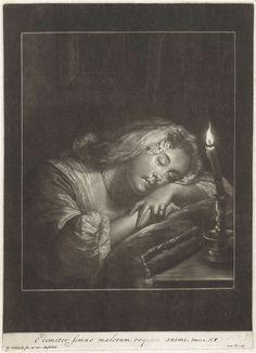 Pieter Schenk (I) | Slapend meisje bij kaarslicht, Pieter Schenk (I), 1670 - 1713 |