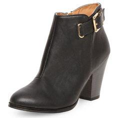 Bottines épurées noires à talons - Voir toutes les chaussures  - Chaussures