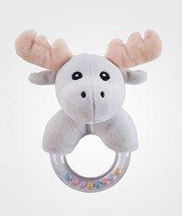 Kids Concept Moose Character Teething Rattle Black