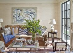 The Living Room of a Traditional Buckhead Home designed by Margaux Interiors andphotographed by Emily Followill for Atlanta Homes & Lifestyles:https://www.sarahsarna.com/buckhead-home/