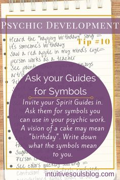 "Psychic mediumship development tip: Ask your guides to give you ""symbols"". See…"