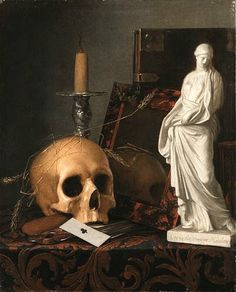 Cornelis van der Meulen.  Vanitas Still Life.  1688 Vanitas Paintings, Old Paintings, Painting Still Life, Still Life Art, Memento Mori Art, Vanitas Vanitatum, Danse Macabre, Gothic Art, Old Master