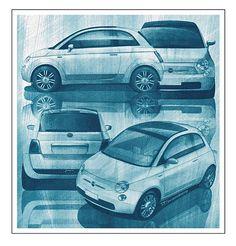 Nuevo Fiat 500 design studies