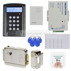 Cheapest Wooden Glass Metal Gate Opener Door Entry System Access Control Kit Home Office Bank Diy Electric Lock Rfid Card Access Control