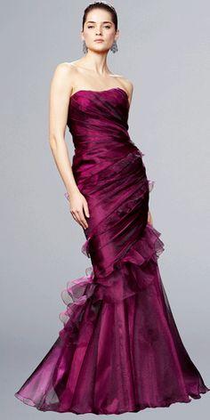 Sophisticated dark magenta gown