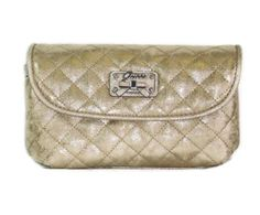 Guess Kihei Cosmetic Make Up Case Bag ~ Gold In Color GUESS. $21.95