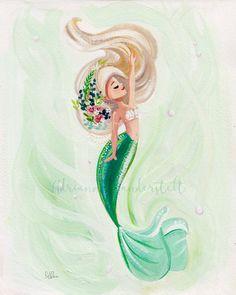 Peaceful Mermaid Peaceful Mermaid Sabine Sina Nitsch Sirenias Peaceful Mermaid reproduction of an original gouache painting Paper Giclee Elegance Velvet Archival […] painting Fantasy Mermaids, Unicorns And Mermaids, Mermaids And Mermen, Real Mermaids, Mermaid Artwork, Mermaid Drawings, Mermaid Paintings, Mermaid Fairy, Cute Mermaid