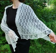 #Free knitting pattern for a delicate lace shawl.  - I guess I should learn to knit? oh well, I always have @Mary Trexler right?;)