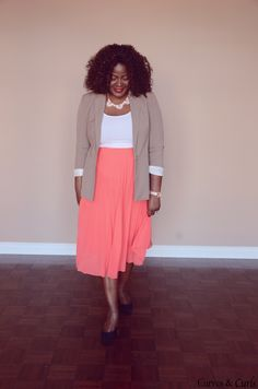 My Curves & Curls™ | A Canadian Plus Size Fashion blog: Outfit post... I LURVE this outfit. I'd have to choose different shoes cause Heels would keel me... but none the less!