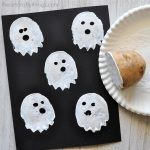 Cute and Spooky Potato Stamp Ghost Craft