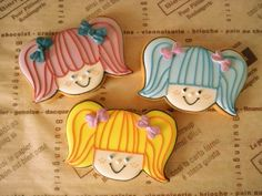 little girl cookies♡