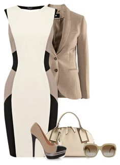 """""""Untitled #192"""" by glinwen ❤ liked on Polyvore featuring H&M, Warehouse, Francesco Biasia and CÉLINE"""