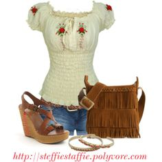 """Summery Hippie Style"" by steffiestaffie on Polyvore"