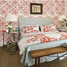 Decorating Ideas for Small Bedrooms: Bold Patterns