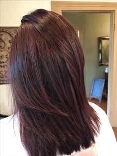 Hair Color Streaks, Hair Color And Cut, Ombre Hair Long Bob, Burgundy Hair, Brown Hair, Hair Shades, Auburn Hair, Hair Inspiration, Hair Inspo