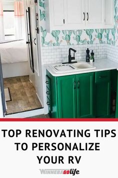 Are you searching for tips to renovate a rv for your family? Check out how one family added their own personal touches to a Winnebago Minnie Winnie to make their home on wheels better &, brighter. Whether you are full-time rv'ing, a weekend warrior or new to the rv'ing lifestyle these ideas will show how to transform your rig. These tips can be used on a motorhome, fifth wheel, towable, or even a van. From painting to wallpapering and so much more. Just get creative and make it your own. Peel And Stick Tile, Stick On Tiles, Winnebago Minnie, Road Trip Adventure, Rv Interior, Rv Hacks, Create A Budget, Rv Life, House On Wheels
