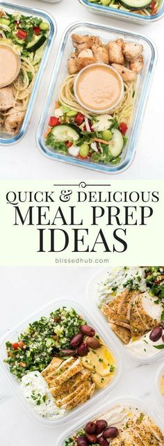 quick & delicious meal prep ideas