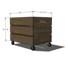 Vintage Crate Carts for storage. make 'seats' for top.