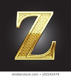 golden figure made in vector Alphabet Letters Images, Alphabet Design, Alphabet And Numbers, Back To Black, Royalty Free Images, Fancy, Stock Photos, Mirror, Gold