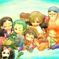 One Piece | Chibi | Mugiwaras | Monkey D Luffy | Roronoa Zoro | Nami | Usopp | Vinsmoke Sanji | Tony Tony Chopper | Nico Robin | Franky | Brook