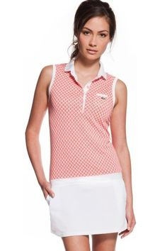 Lacoste Vintage Tennis Ball Polo Dress. kinda want this. the pattern is little tennis balls. hard to see from far away but up close it is so cute!
