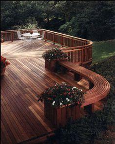 Gazebo and Deck Design, Backyard Remodeling, Exterior Design Design Exterior, Interior And Exterior, Magic Garden, Custom Decks, Diy Deck, Decks And Porches, Building A Deck, Outdoor Gardens, Outdoor Living