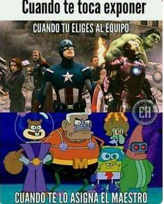 XDD siempre me pasa (Pinche vida) :vv Anime Meme, Avengers Memes, Marvel Memes, Funny Images, Funny Pictures, Pikachu, Pokemon, Spanish Memes, Best Memes