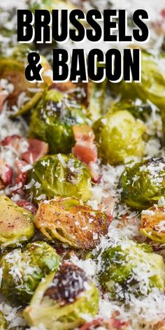 Roasted Brussels Sprouts with Bacon is a simple and easy side dish that your family will keep coming back to. Steamed right in the tray you bake it in with lots of delicious bacon and parmesan flavor, these roasted brussel sprouts are a keeper!