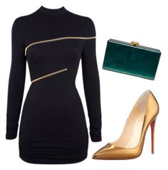 """""""Untitled #4293"""" by ania18018970 on Polyvore featuring Christian Louboutin, Agent Provocateur and Edie Parker"""