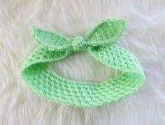 Free Crochet retro Headband Pattern