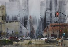 GrayDay Watercolor, Painting, Art, Pen And Wash, Art Background, Watercolor Painting, Painting Art, Kunst, Watercolour