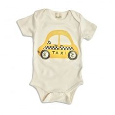Estella's new organic taxi baby one-piece